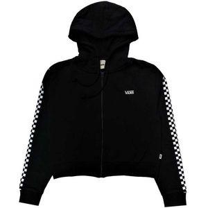 NEW- VANS Black Crop Full Zip Up Hoodie